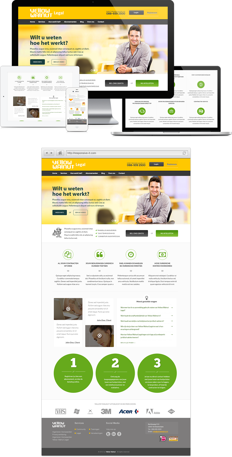 Yellow Walnut Website Design